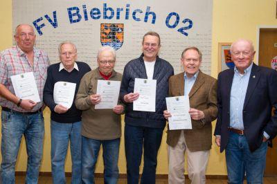 Mitglieder-Ehrung im Vereinsheim des FV Biebrich 02 (28. 04. 2017)